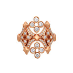 Louis Vuitton Dantelle Monogram 18k Rose Gold Diamond Ring // Ring Size: 5.25 // Pre-Owned