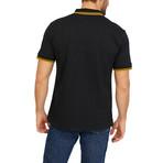 Maxime Short Sleeve Polo Shirt // Black (Small)