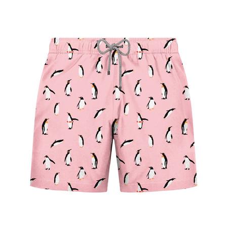 Penguin Swim Short // Pink (S)