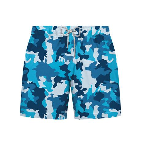 Camo Swim Short // Blue (S)