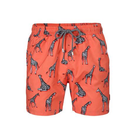 Giraffe Swim Short // Red (S)