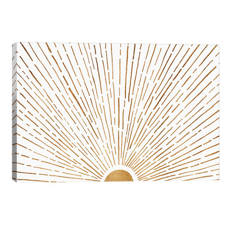 """Let The Sunshine In // Modern Tropical (40""""W x 26""""H x 1.5""""D)"""