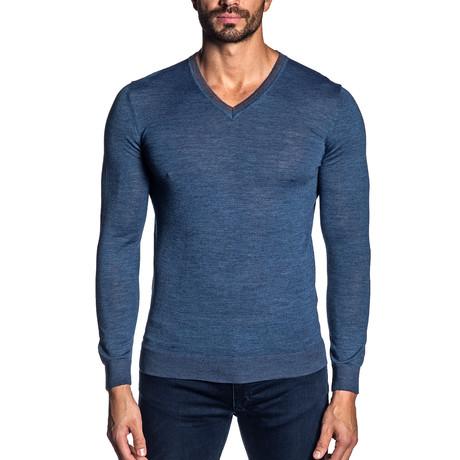 Joshua V-Neck Light Knit // Blue (S)