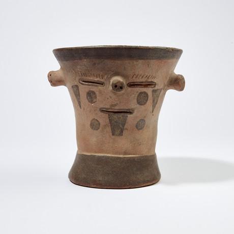Massive Huari Ceremonial Kero from Peru // 650 - 800 AD
