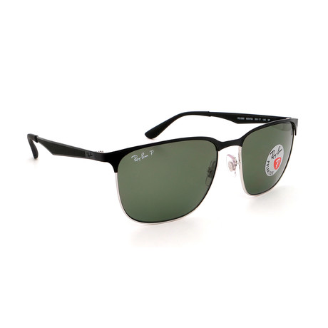 Men's  RB3569-90049A Polarized Sunglasses // Black + Green