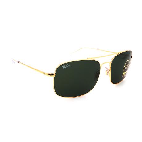 Men's  RB3611-131 Rectangular Sunglasses // Gold