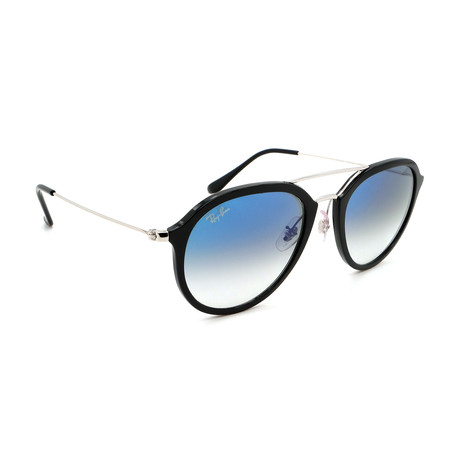 Unisex RB4253-6293F Aviator Sunglasses // Black + Silver + Blue Gradient