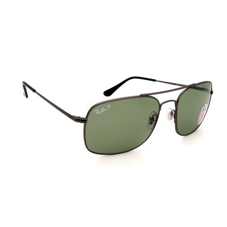 Unisex RB3611-29O9 Polarized Sunglasses // Silver + Green