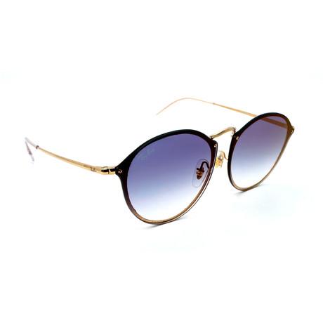 Unisex RB3574N-1X0 Blaze Round Sunglasses // Gold + Blue Gradient