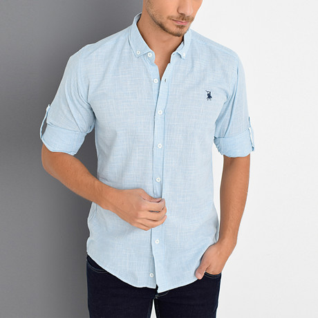 Smith Button-Up Shirt // Turquoise (Large)