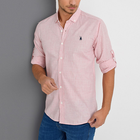 Smith Button-Up Shirt // Red (Small)