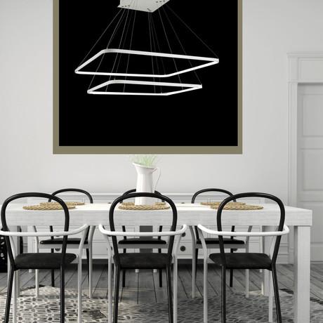 Simplicity LED Chandelier // 2 Squares