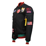 "MA-1 Colorblock ""USA Eagle"" Jacket // Black (4XL)"
