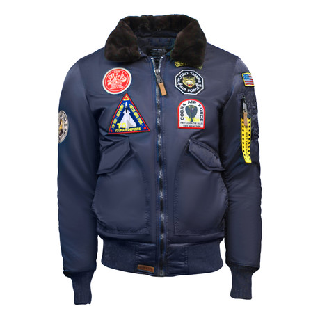 "CW45 ""United States Eagle"" Jacket // Navy (XS)"
