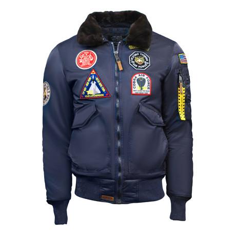 """CW45 """"United States Eagle"""" Jacket // Navy (XS)"""