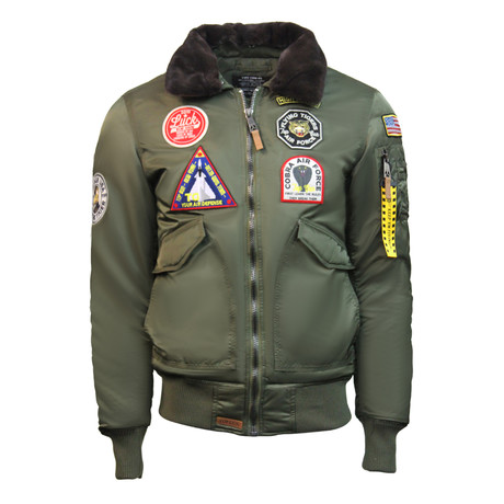 "CW45 ""United States Eagle"" Jacket // Olive (XS)"