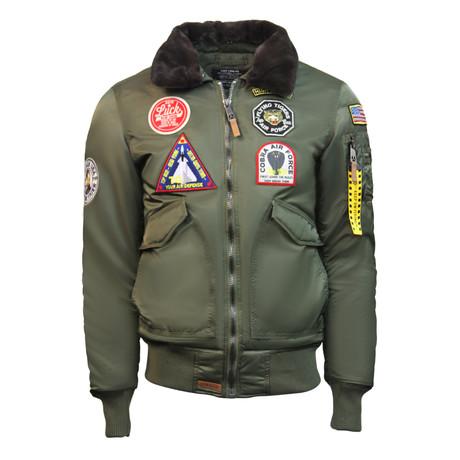 """CW45 """"United States Eagle"""" Jacket // Olive (XS)"""