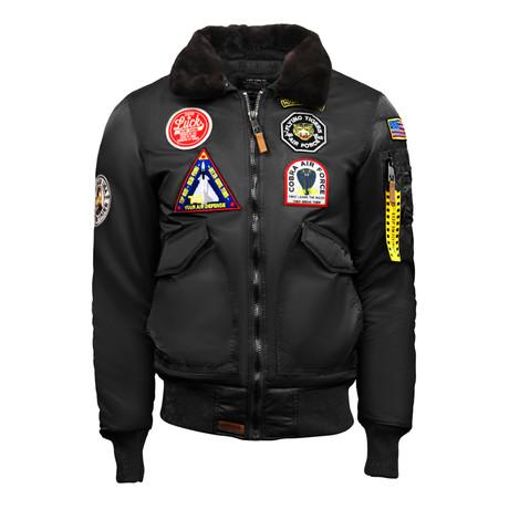 """CW45 """"United States Eagle"""" Jacket // Black (XS)"""