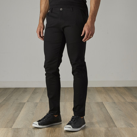 Men's Classic Belted Work Jeans // Black (28WX30L)
