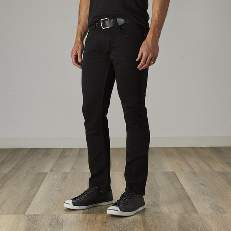 Men's Slim Fit Stretch Chinos // Black (30WX30L)