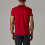 Super Soft Stretch V-Notch Neck Tee // Red (S)
