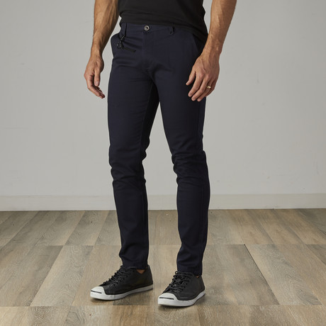 Men's Slim Fit Stretch Chinos // Navy (30WX30L)