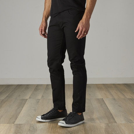 Men's Jean Cut Slim Fit Pants // Black (30WX30L)