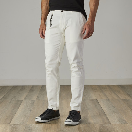 Men's Slim Fit Stretch Chinos // White (30WX30L)