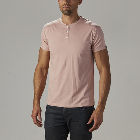Men's Super Soft Stretch Henley // Dusty Peach (S)