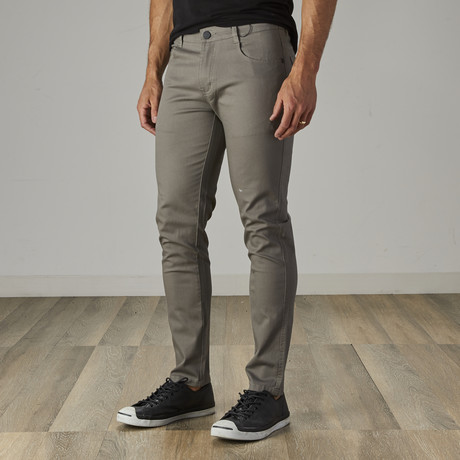 Men's Jean Cut Slim Fit Pants // Ash Gray (30WX30L)