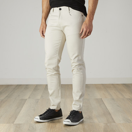 Men's Jean Cut Slim Fit Pants // Stone (30WX30L)