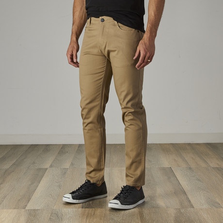 Men's Jean Cut Slim Fit Pants // Dark Khaki (30WX30L)