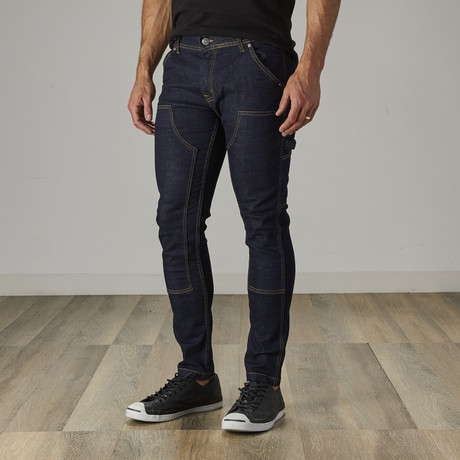 Men's Carpenter Style Jeans // Indigo (30WX30L)
