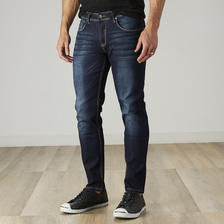 Men's Dark Wash Stretch Jeans // Dark Wash (30WX30L)