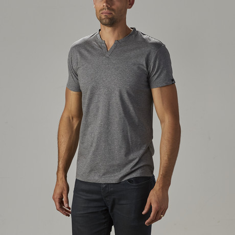 Men's Super Soft Stretch V Notch Neck Tee // Charcoal (S)