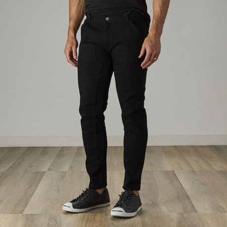 Men's Carpenter Style Jeans // Jet Black (30WX30L)