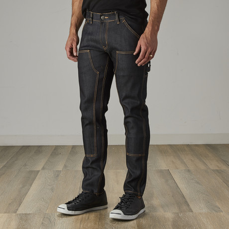 Men's Carpenter Style Jeans // Raw Denim (30WX30L)
