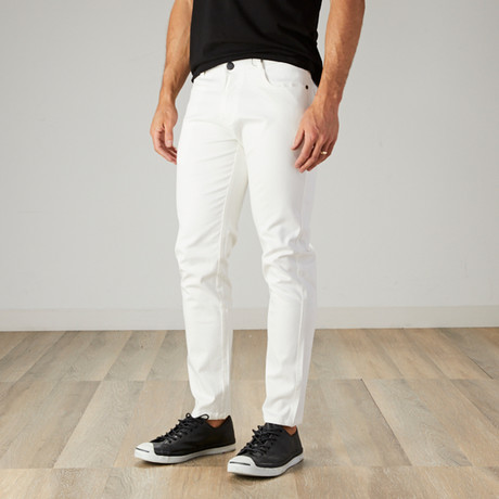 Men's Jean Cut Slim Fit Pants // White (30WX30L)