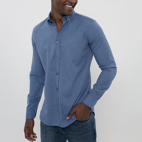 Frantz Button-Up Shirt // Dark Blue (S)