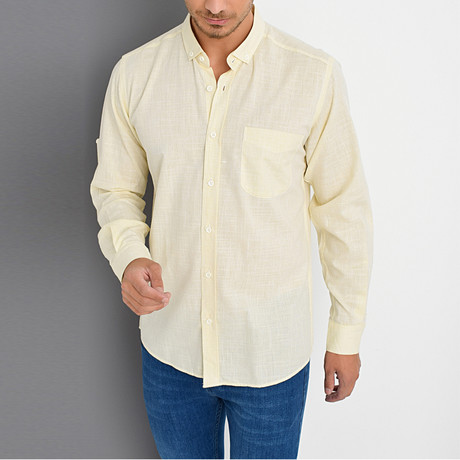 Timothy Button-Up Shirt // Yellow (Small)