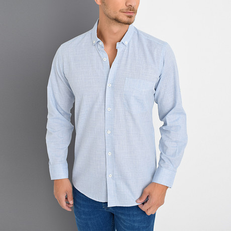 Timothy Button-Up Shirt // Blue (Medium)