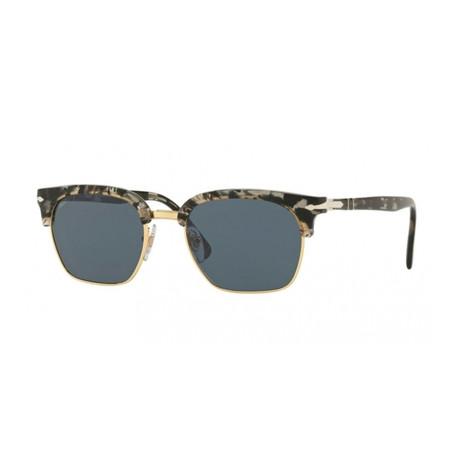 Men's Cellor Evolution Polarized Sunglasses // Gray Havana + Blue