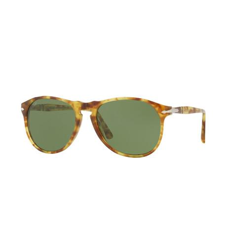 Men's 649 Series Sunglasses // Yellow Tortoise + Green