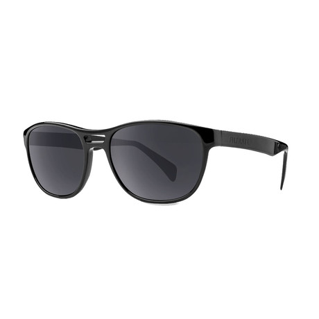 Filtrate Eyewear // Echo Polarized Sunglasses (Gloss Black + Gray)