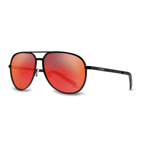 Filtrate Eyewear // MP Sunglasses (Black + Red Mirror)
