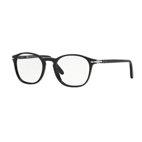 Persol // Men's Round Optical Frames // Black