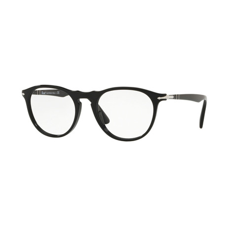 Persol // Men's Round Optical Frames + Curved Bridge // Black