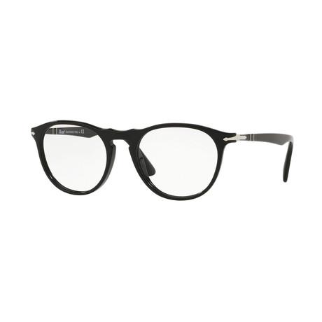 Men's Round Optical Frames + Curved Bridge // Black