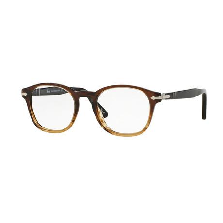 Men's Round Optical Frames // Striped Brown