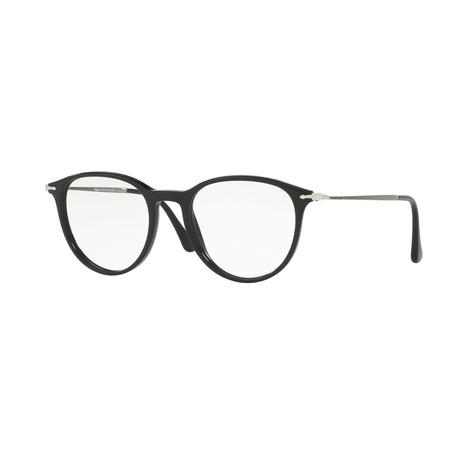 Men's Round Optical Frames // Black + Silver